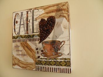 Cafe Collage on Canvas