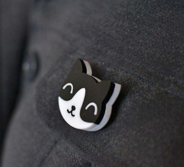 Cat Brooch - Cat Gifts - Cat Jewellery  £7.99 #folksyfriday