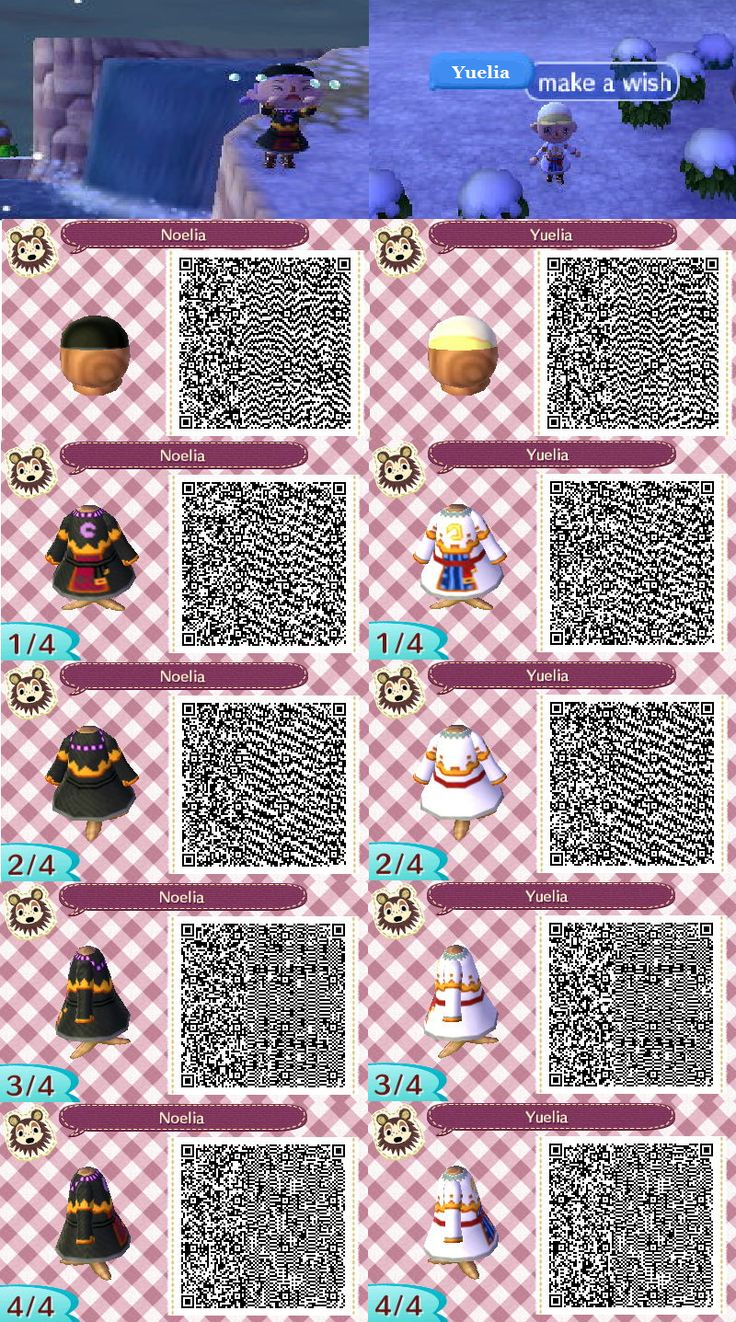 Yuelia and noelia qr codes for acnl i loved these two characters from fantasy life and they - Coupes animal crossing new leaf ...