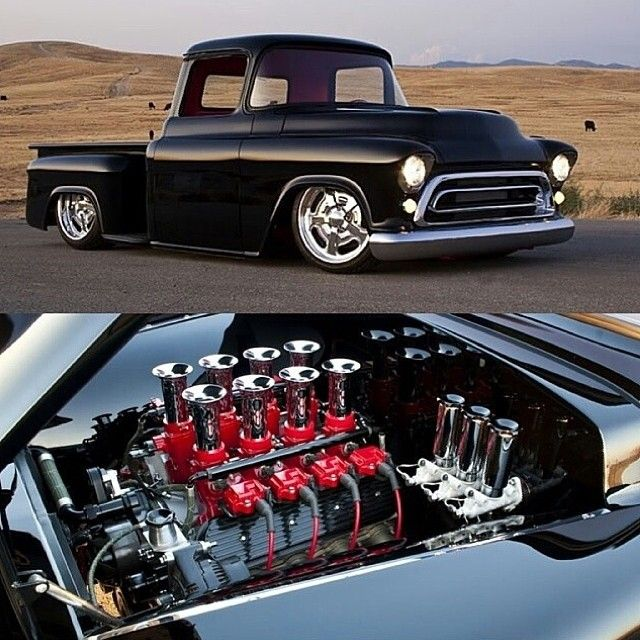 Hot Wheels - Always down for a classic truck of any description this beast here fits the bill, pretty sure it was built by @ironworksspeedandkustom , very awesome build! #chevrolet #gmc #streettruck...