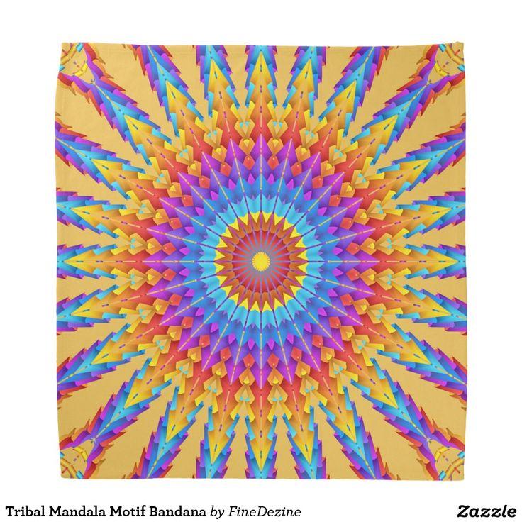 Tribal Mandala Motif Bandana