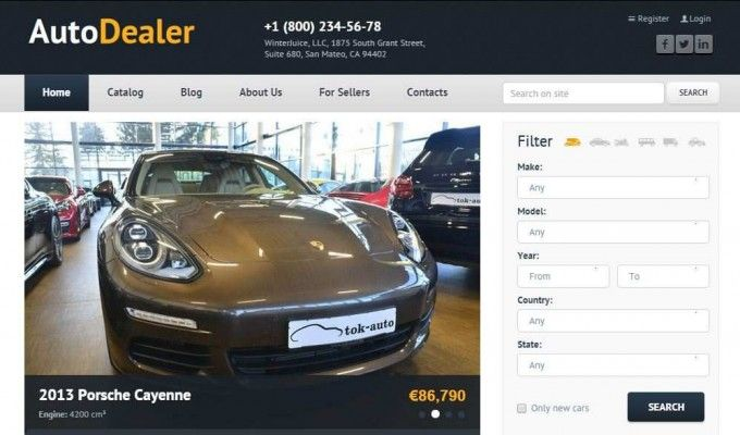 #ad premium wordpress theme for car dealers!   Features: Visual Builder Responsive Design Retina Ready Powerful Functions ShortCodes User registration User / dealer identification  #cars #dealer #wordpress #website #webdesign #design #html5 goo.gl/qhlm28