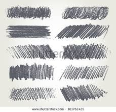 different shade of pencil shows different lines