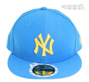 Photo New Era Casquette Enfant NY Yankees - Bleu cyan et jaune Version little boy!  #cap asquette #blue #jaune #yellow #fashion #sun #soleil #boy #littleboy
