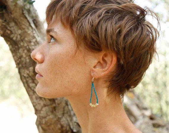 Stone Earrings Stone Bead Earrings Handmade by theprophetsbazaar