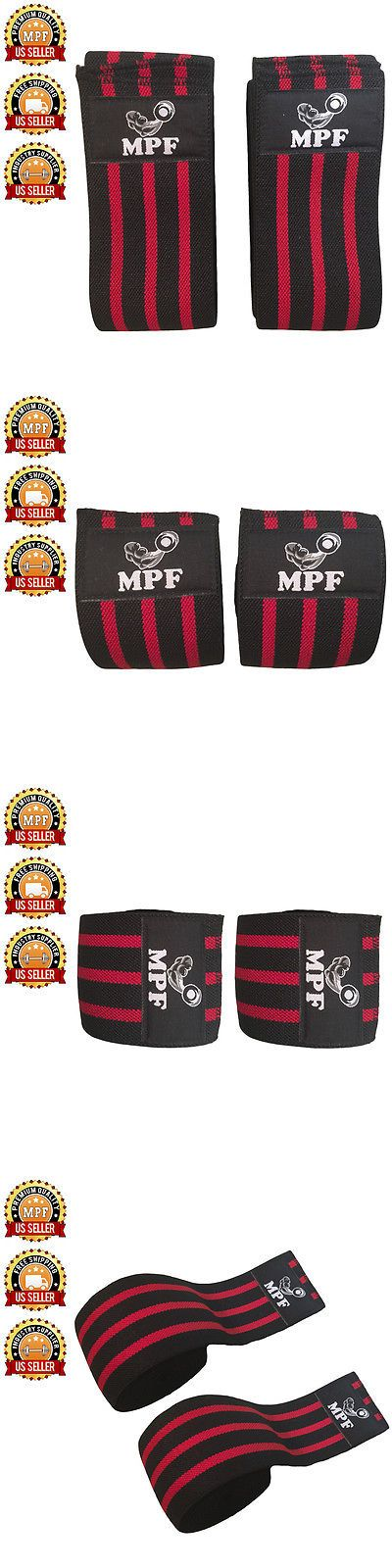 Wrist and Knee Wraps 179821: Power Lifter Weight Lifting Red Line Knee Wraps Support Bandage Gym Training -> BUY IT NOW ONLY: $30 on eBay!
