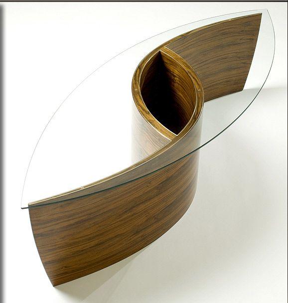 Андромеда Журнальный столик 2010, грецкий орех, чистое серебро декор, стекло