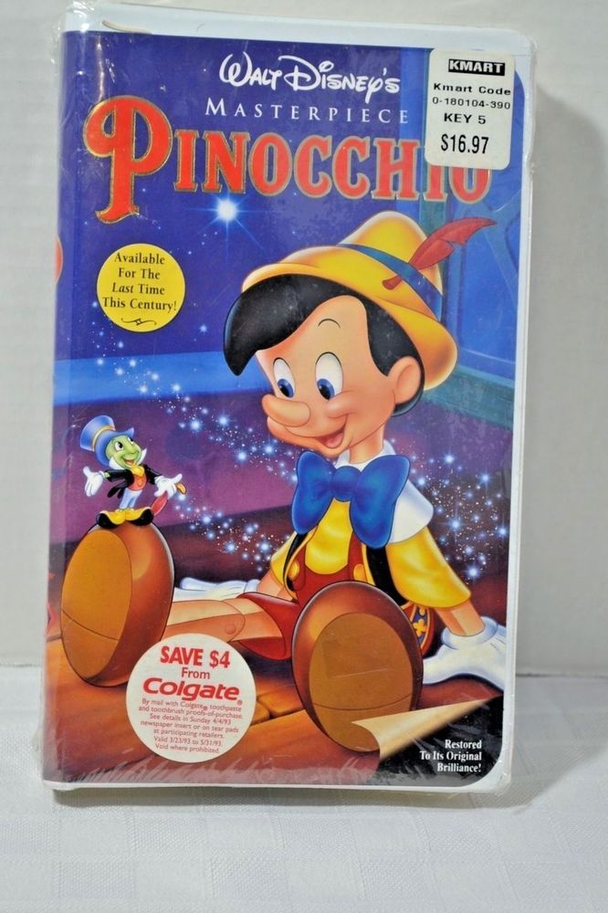 Pinocchio (VHS) Super Rare **Factory Sealed** 1993 | Vhs ...