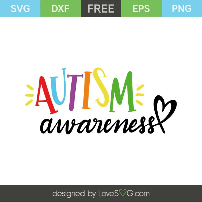 *** FREE SVG CUT FILE for Cricut, Silhouette and more *** Autism awareness