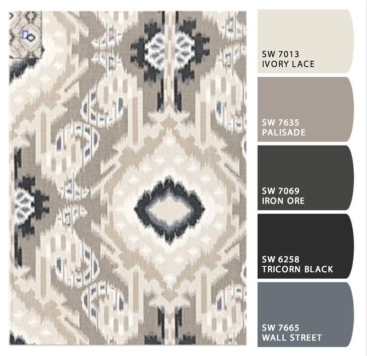 Paint Color Palette of Neutral Colors using Schumacher Fabric {The Creativity Exchange}
