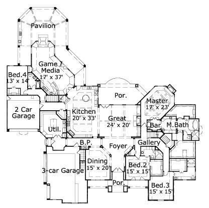 Best 25 large house plans ideas on pinterest big lotto for 3 car garage size square feet