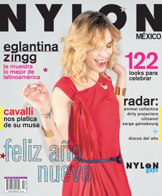 The beauty Eglantina Zingg on the cover of NYLON México December.