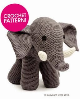 This great elephant pattern is a free PDF download on Deramores.com Check out the other Elephants in this directory.