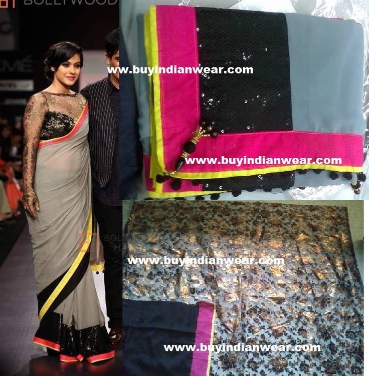 Stunning Kajol Saree At $99 with free shipping offer only at www.buyindianwear.com