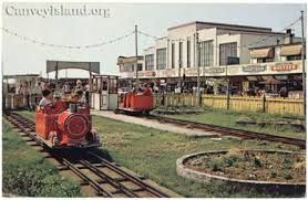 Canvey seafront train