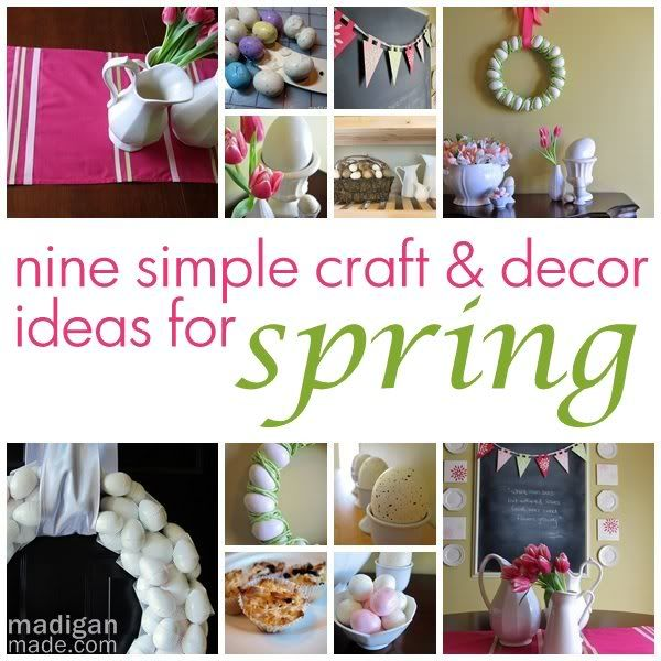 9 simple and easy spring craft and decor ideas. The ideas are so adorable and fun | madiganmade