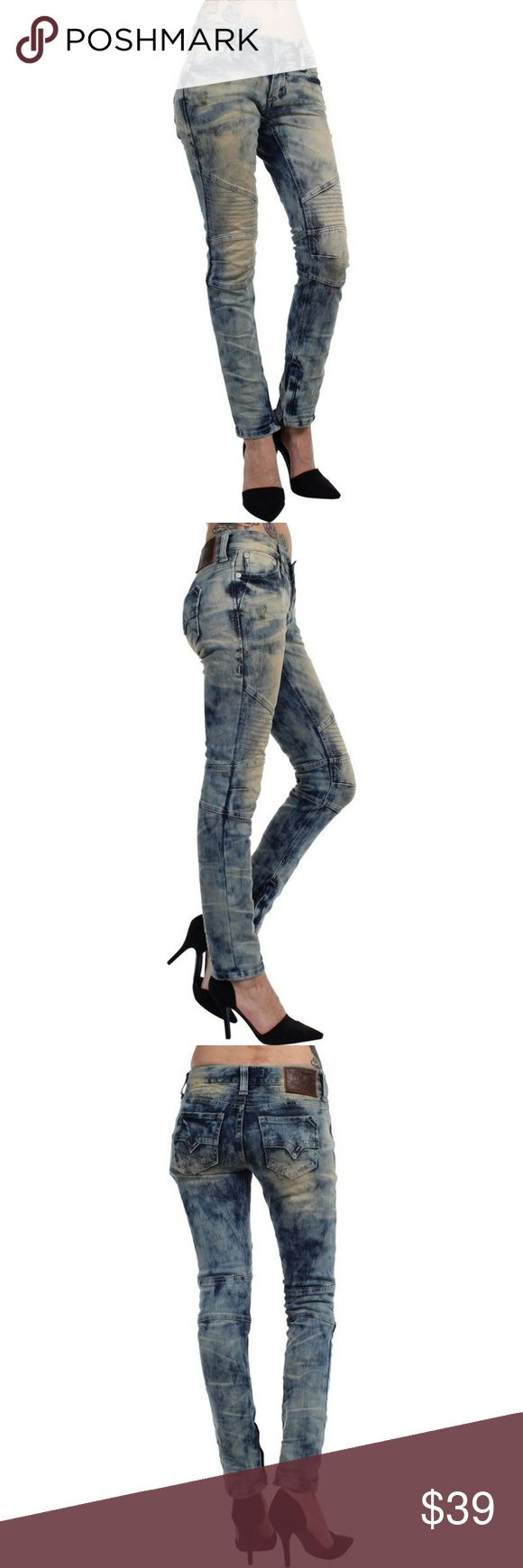 AFFLICTION Raquel Moto Jeans!! Size 26 NEW--NO TAGS---POPULAR Jeans From AFFLICTION!!  Distressed--Zipper Detail at your Back Pockets *****14 inches across the Top, 7.5 inches for your Rise and 30 inches for your Inseam*******NICE!! Affliction Jeans