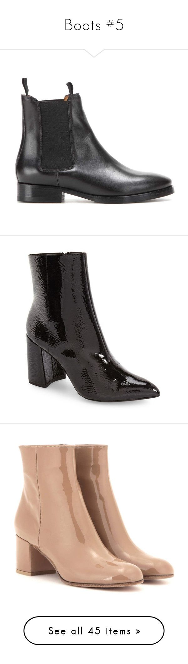 """""""Boots #5"""" by marissa-91 ❤ liked on Polyvore featuring shoes, boots, ankle booties, acne, real leather boots, leather booties, black booties, leather chelsea boots, black leather booties and black"""
