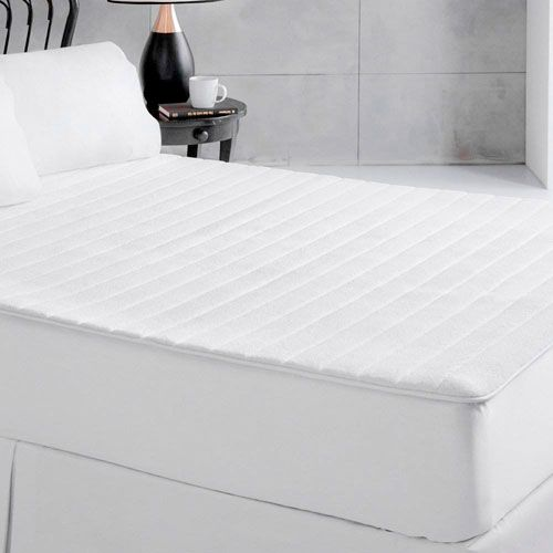 White Plush Memory Foam Queen Mattress Pad - (In No Image Available)