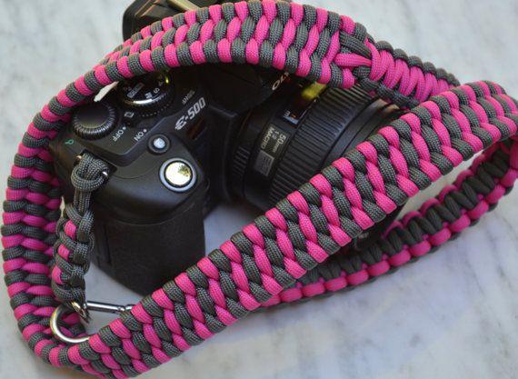 Handmade Paracord Camera Strap Trilobite Bar Weave by RainyDayzArt #Etsy…