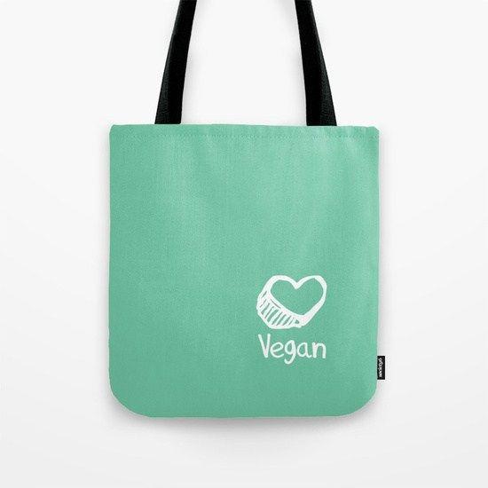 Go vegan vászontáska felirattal