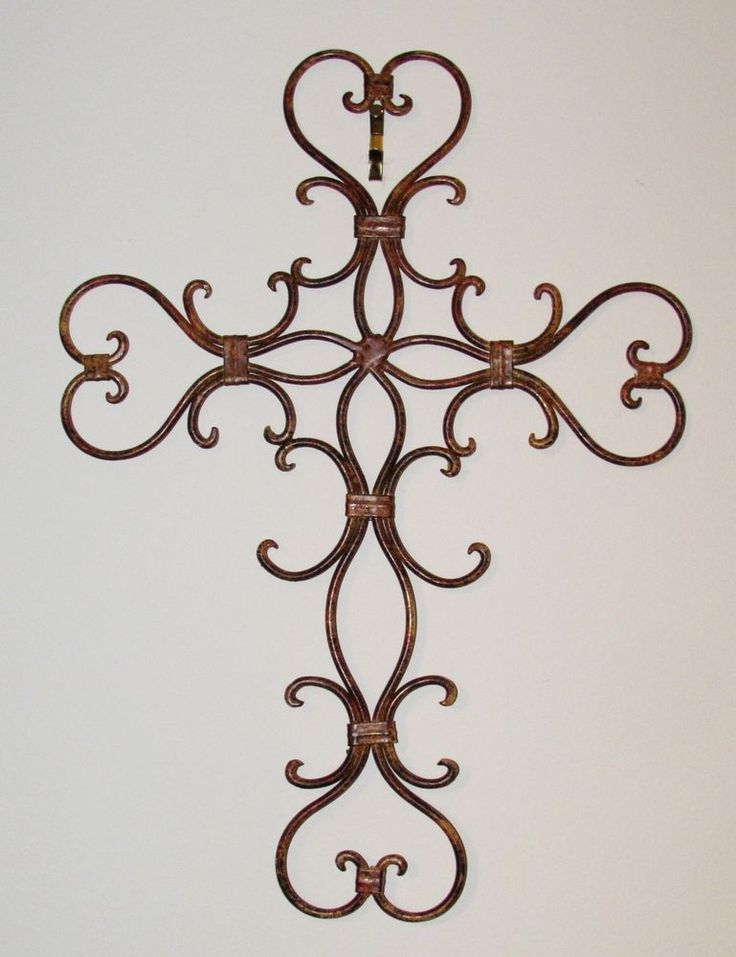 Metal Wrought Iron Cross Wall Decor  #Unbranded