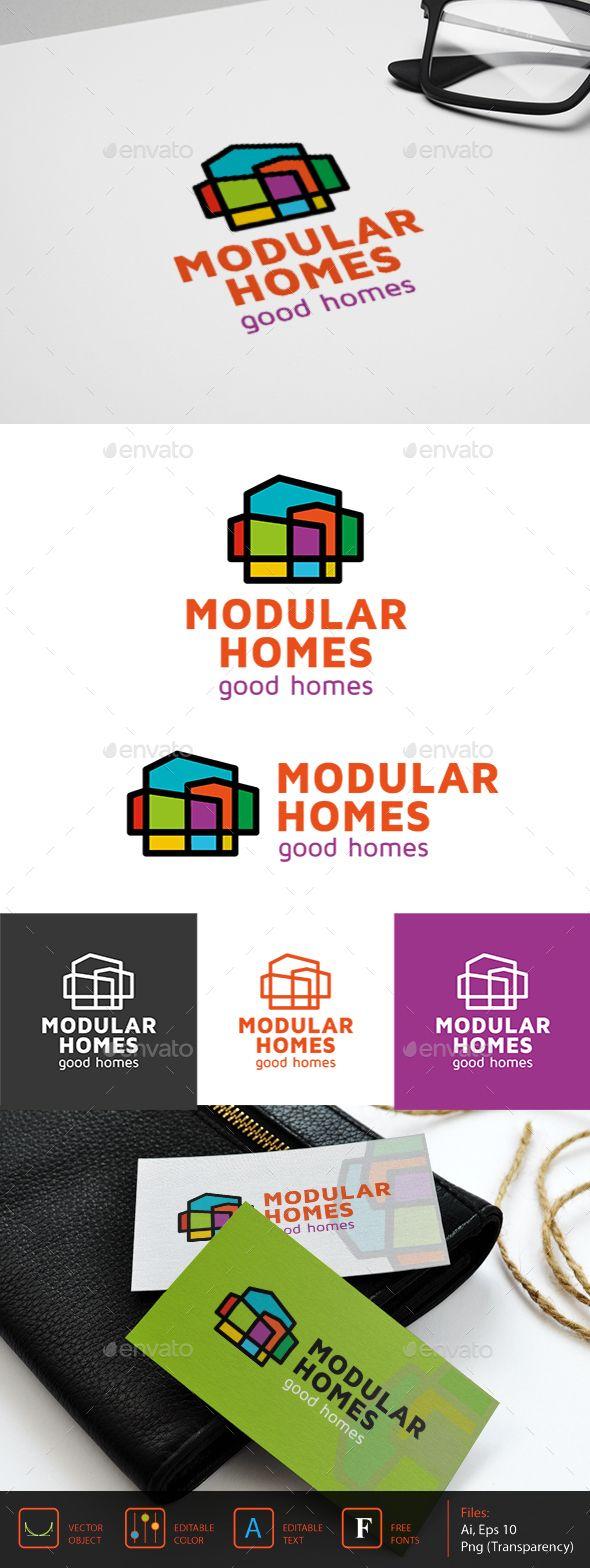 Modular homes Logo Template #design #logotype Download: http://graphicriver.net/item/modular-homes-logo/13033175?ref=ksioks