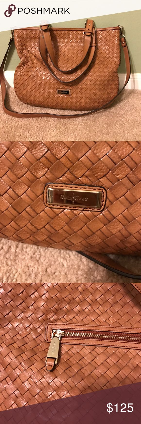 Cole Haan Genevieve open weave tote bag Cole haan genevieve brown open weave tote bag. Kept in excellent condition. It is a tote but can also be carried over the shoulder. Normal signs of use, kept in great condition. Make an offer! Cole Haan Bags Totes