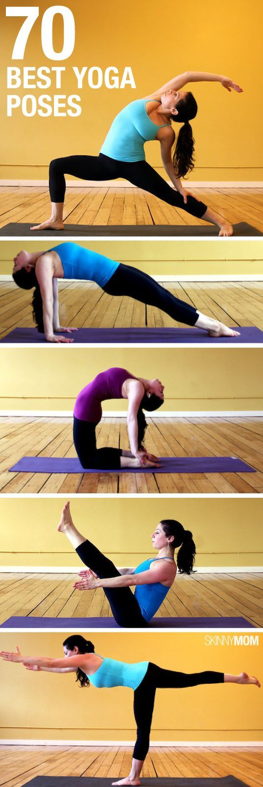 New to yoga? Here are a ton of yoga poses to try out and find your zen!