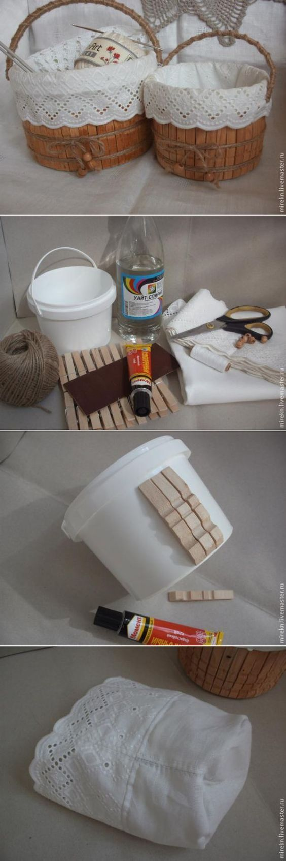 Stylish and decorative basket that makes recycling with plastic buckets