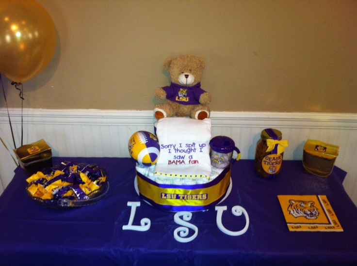 18 best lsu baby shower images on pinterest shower