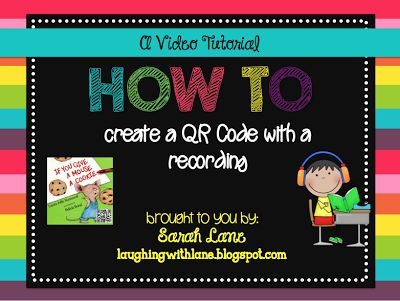 Video tutorial on how to create QR Codes with a FREE voice recording!