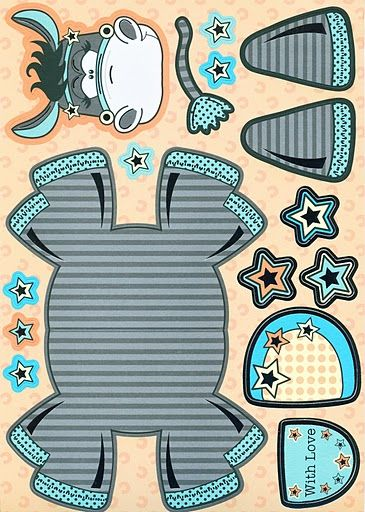 Free printable paper craft donkey. Check out my free ag printables board for other animals like this one.
