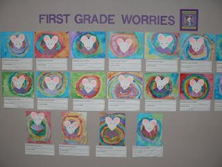 """Writing and art activity inspired by the book """"Wemberly Worried"""" written by Kevin Henkes"""