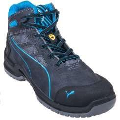Puma Shoes: Women's 63.405.5 Blue Steel Toe ESD Technics Mid Work Shoes