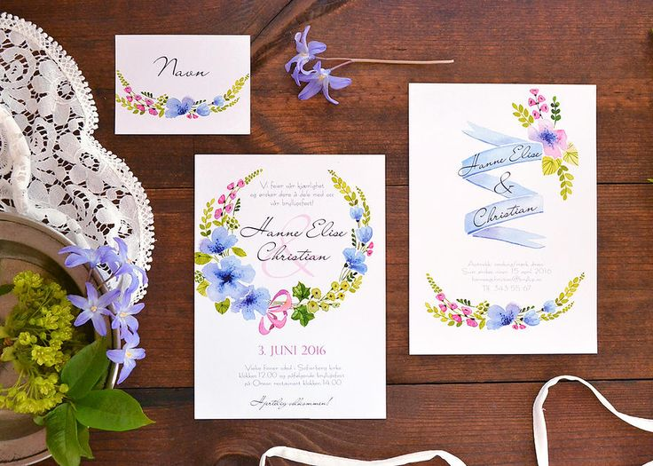 Custom wedding stationery design by akvarelldesign | Wedding
