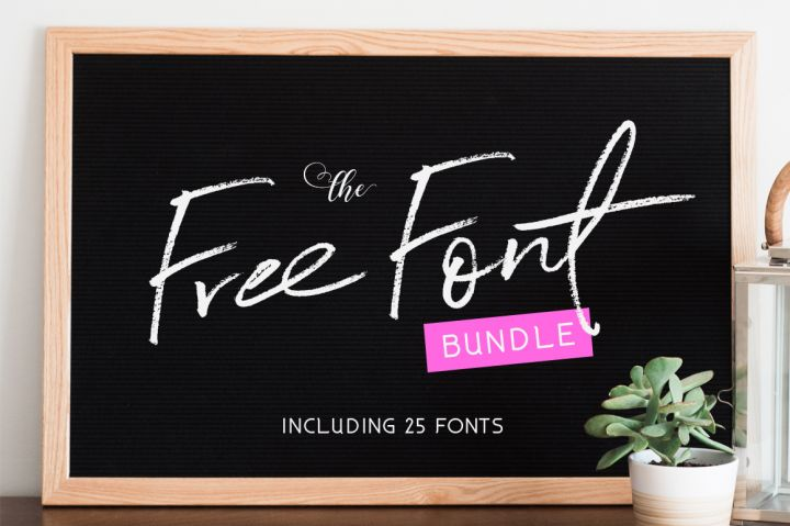 Grab this Free Font Bundle from THJ for 8 days only!