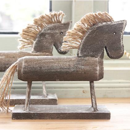 Лидер продаж из дерева ручной работы Всё для резьбы одного реквизита Деревянный конь Скульптура Изделия из дерева украшения дома