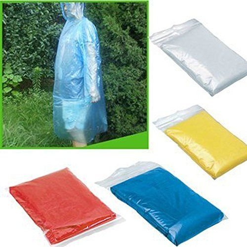 Pindia Set Of 2Pc Portable Disposable Clear Raincoats For Men And Women Waterproof Plastic Raincoat   Girls Snow and Rainwear Clothing and Accessories   Best news and deals!