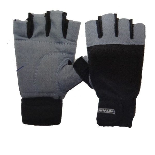 Nivia Leather Gym Gloves With Wrist Wrap Product Code: FS1595  Nivia Leather Gym Gloves comes with Wrist Wrap attached to it. The product is Highly Durable and Grip is also strong enough. Since the Product comes in two different Sizes and as such anyone can use it. The wrist of the Product is also Adjustable .  MRP: Rs 515.00 /- Discount: 3 % Our Price:Rs 499.00/-  Please Note, The Color, Texture & Pattern of this Product is Subject to Availability and Whichever is in Stock will be Shipped.