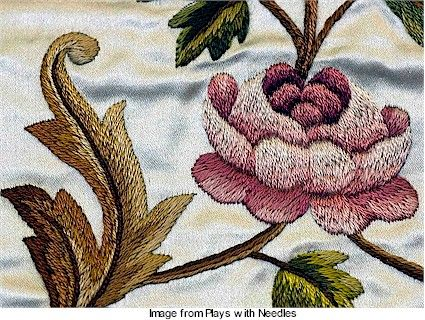 See antique French embroidery up close · Needlework News | CraftGossip.com