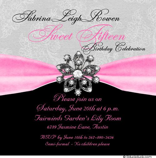 78 best sweet 15 images on pinterest | sweet 15, sweet sixteen and, Birthday invitations