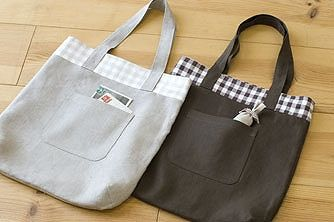 How to make handmade Stadio clip · | Reversible Tote Bag French linen 61st