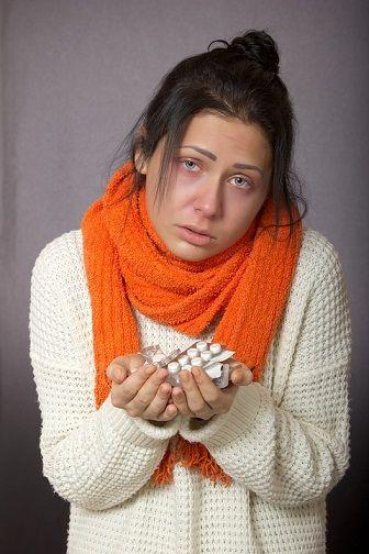 6. <b>Ból gardła</b><br><br> Przeziębienie wcale nie oznacza, że trzeba iść...
