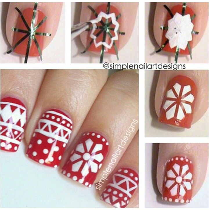 Holiday Sweater Nail Art, Christmas nails, tutorial / pictorial