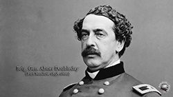 A set of wallpaper images portraying General Abner Doubleday in 1863, who was stationed at Fort Moultrie for two years prior to the Civil War. #civilwar #Doubleday #wallpaper #Moultrie #Gettysburg