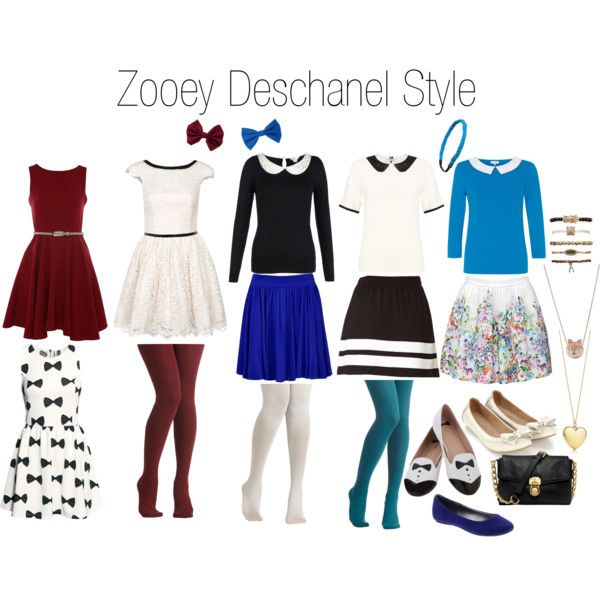 """Zooey Deschanel Style"" by dowado on Polyvore"