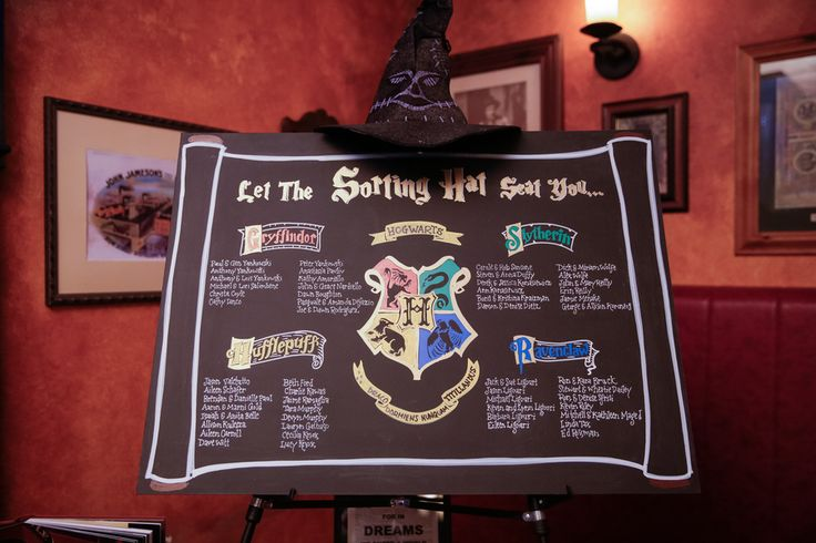 harry potter wedding guest seating chart by Sachi Villareal Imaging @cleverwedding