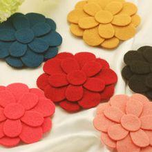 Hot Mix 6 Pçs/lote flor Moda Cabelo Franja Franja Velcro cintas Jóias menina mulheres headwear Cabeça ornamento acessórios femininos(China (Mainland))