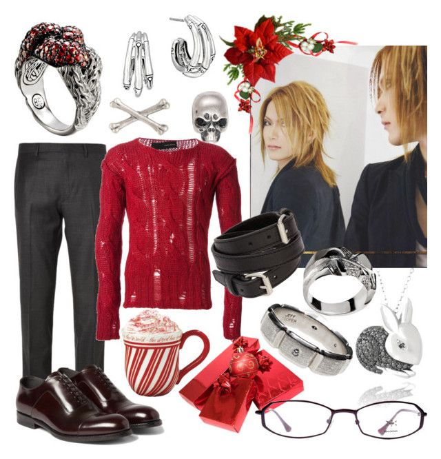 """""""yukio - baby, it's cold outside. lemme get your blood boiling, a fire roaring."""" by inexorablefate ❤ liked on Polyvore featuring mode, John Hardy, Social Anarchy, DB Designs, Brioni, ISABEL BENENATO, Federico Primiceri, Alexander McQueen, Balenciaga et Beausoleil"""